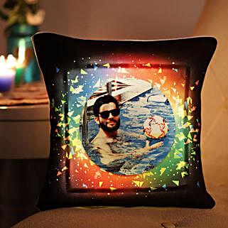 Personalised Vibrant LED Cushion: Personalised Cushions