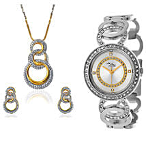 Personalised Watch With Pendant & Earrings: Watches