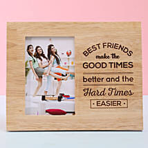 Personalised Wooden Photo Frame For Best Friend: Friendship Day Personalised Photo Frames