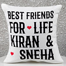 Personalized Best Friends Cushion: Send Friendship Day Gifts to Delhi