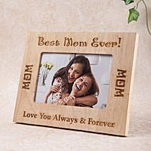 Personalized Best Mom Photo Frame: Mothers Day Home Decor Gifts