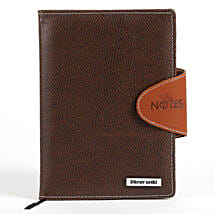 Personalized Brown Notebook: Personalised Gifts for Men