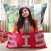 Personalized Comfy Cushion: Sister