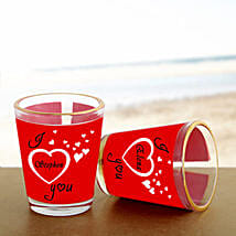 Personalized Couple Shot Glass: Send Gifts to Barnala