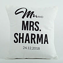 Personalized Cushion Mr N Mrs: Gifts for Anniversary