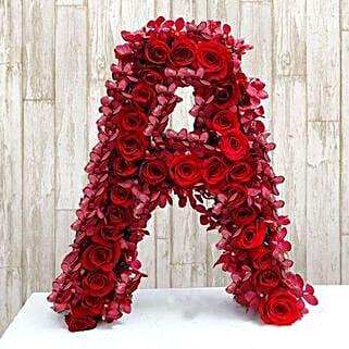 Personalized Floral Alphabet: