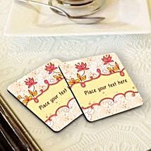 Personalized Floral Coasters: Coasters Gifts