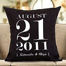 Personalized Important Date Cushion: Gifts for Wedding