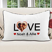 Personalized Pillow Cover White: Personalised Cushions for Valentine