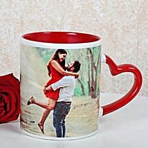 Personalized Red Ceramic Mug: Gifts to India