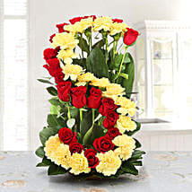 Personalised Floral Arrangement: Personalised Gifts Noida