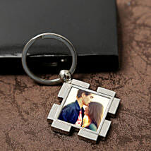 Personalized Valentine Keyring: Anniversary Personalised Gifts