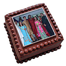 Photo Square Chocolate Cake: Photo Cakes for Anniversary
