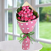 Pink Roses Bunch Of Happiness: Send Flower Bouquets