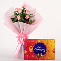 Pink Roses N Chocolates: Chocolates for anniversary
