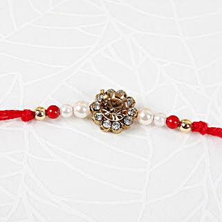 Precious Small Stone Rakhi: Send Pearl Rakhi