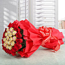 Premium Rocher Bouquet: Valentine Gifts for Husband