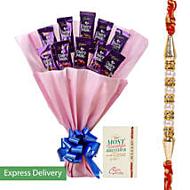 Rakhi Dairy Milk Combo: Send Rakhi to Mumbai
