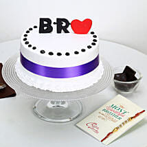 Rakhi Special Cake for Bro: Greeting Cards