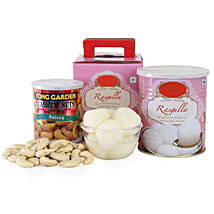 Rasgulla With Cashews: Sweets & Dry Fruits for Diwali