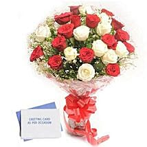 Red N White Roses: Send Flowers & Cards to Gurgaon