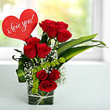 Red Roses Love Arrangement: Gifts for Promise Day