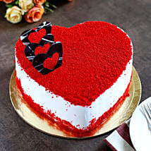 Red Velvet Heart Cake: Eggless Cakes for Anniversary