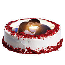 Red Velvet Photo Cake: Send Red Velvet Cakes to Pune