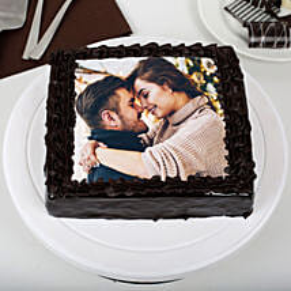 Rich Chocolate Photo Cake: Photo Cakes to Jaipur