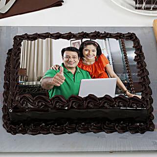 Rich Chocolate Truffle Photo Cake: Send Photo Cakes