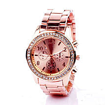 Rinestone Rose Gold Watch For Women: Anniversary Gifts for Wife