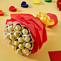 Rocher Choco Bouquet: Send Valentine Gifts to Bhubaneshwar