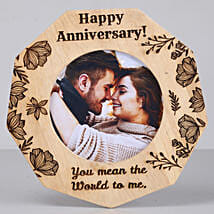 Romantic Anniversary One Personalised Wooden Frame: Personalised Photo Frames