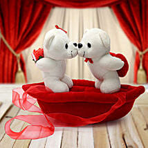Romantic Teddies on Boat Valentine: Valentine Gifts Ambala