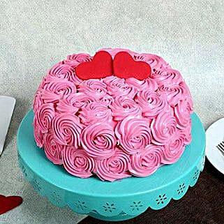 Rose Cream Valentine Cake: Cakes to Kuttipuram