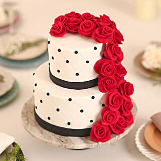 Rose Fondant Cake: Designer Cakes