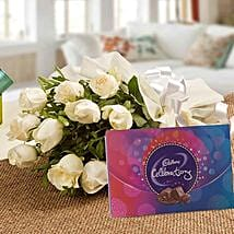 Roses and Celebrations: White Roses