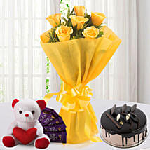 Roses N Choco Hamper: Send Flowers & Chocolates to Jaipur