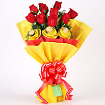 Roses N Chocolates Delight: Send Chocolate Bouquet to Bangalore