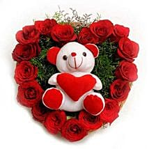 Roses N Soft toy: Midnight Delivery Gifts