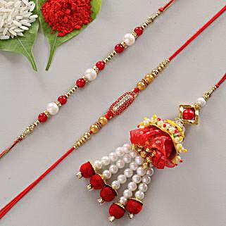 Royal Designer Rakhi Set of 3: Rakhi Express Delivery