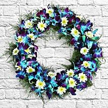 Serene Flower Wreath: Flowers for Sympathy & Funeral