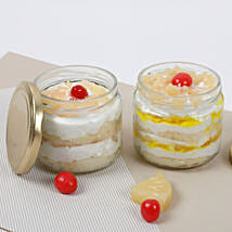 Set of 2 Sumptuous Pineapple Jar Cake: Romantic Gifts for Her