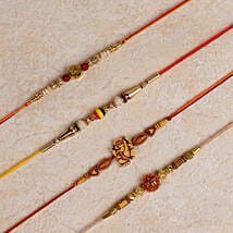 Set of 4 Designer Rakhis: Send Rakhi to Neyveli