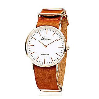 Sleek Tan Unisex Watch: Buy Watches