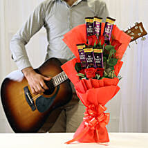Soulful Melodious Floral Combo: Flowers N Chocolates - birthday