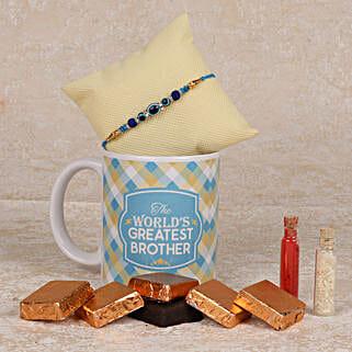 Special Handmade Chocolates Rakhi Combo: Rakhi to Barshi