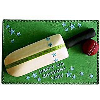 Splendid Cricket Bat Ball Cake: Bhai Dooj Gifts to Pune