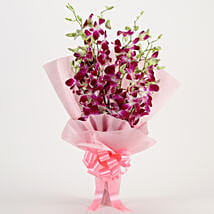 Splendid Purple Orchids Bouquet: Send Wedding Flowers for Groom