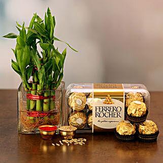 Sumptuous Combo: Send Plants n Chocolates